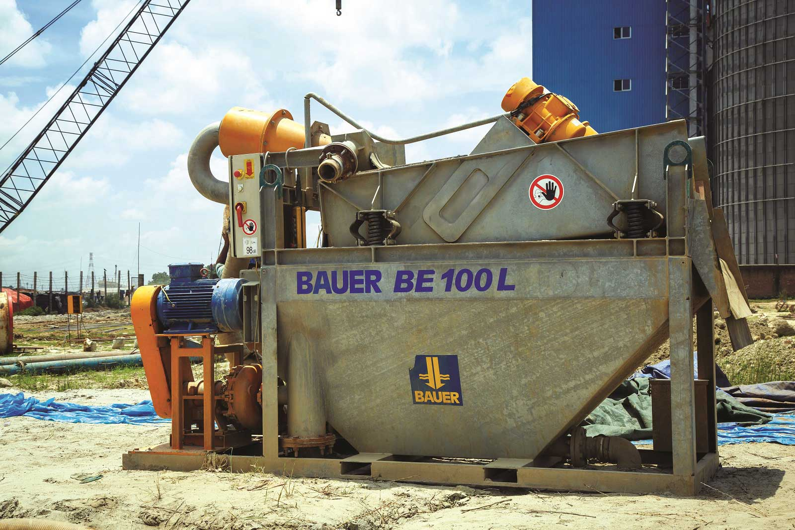 De-sander, Bauer, Model BE 100L, Germany.