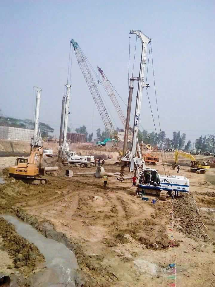Construction of 600 Ø Depth- 24m, Nos- 1085 bored RC pile for 275 MW Coal Fired Power Plant Barapukuria.