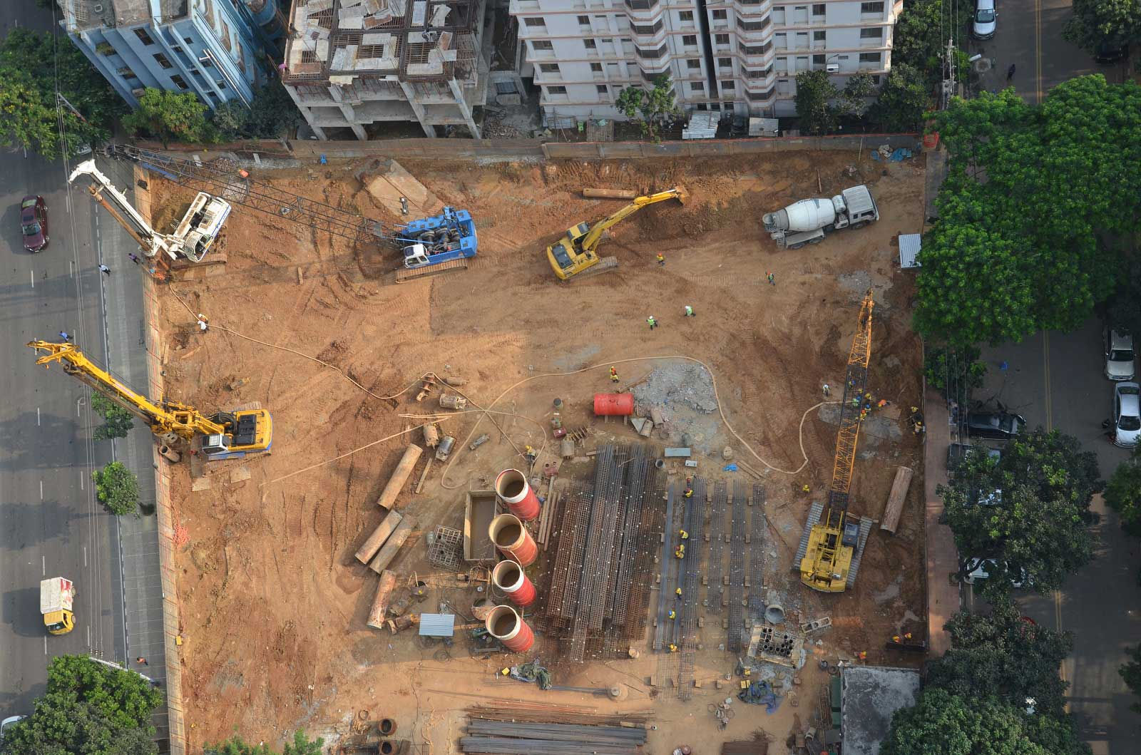 Construction of 600 φ, 1000 φ & 1200m φ Depth- 28m, 37m, 52m, Nos- 305 bored RC pile for South Park (Westin Hotel, Dhaka), Gulshan, Dhaka.