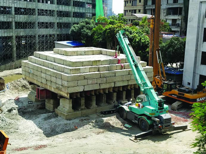 Pile Load test for Swissotel, Dhaka-900 MT.